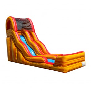 19 Flamin Slippity Slide Inflatable Water Slide
