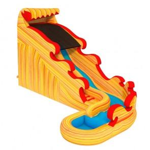 Flamin Surf A Curve Water Slide Inflatable Slide