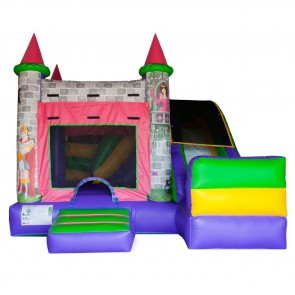 Fun Pink Castle Bouncer Slide Combo