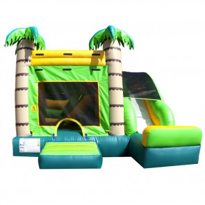 Fun Tropical Bouncer Slide Combo