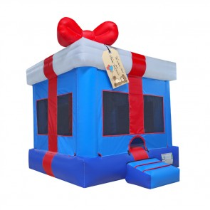 Blue Gift Box Bounce House