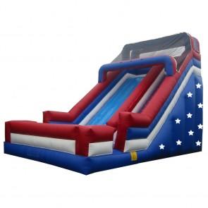 24' Patriotic Single Lane Slide
