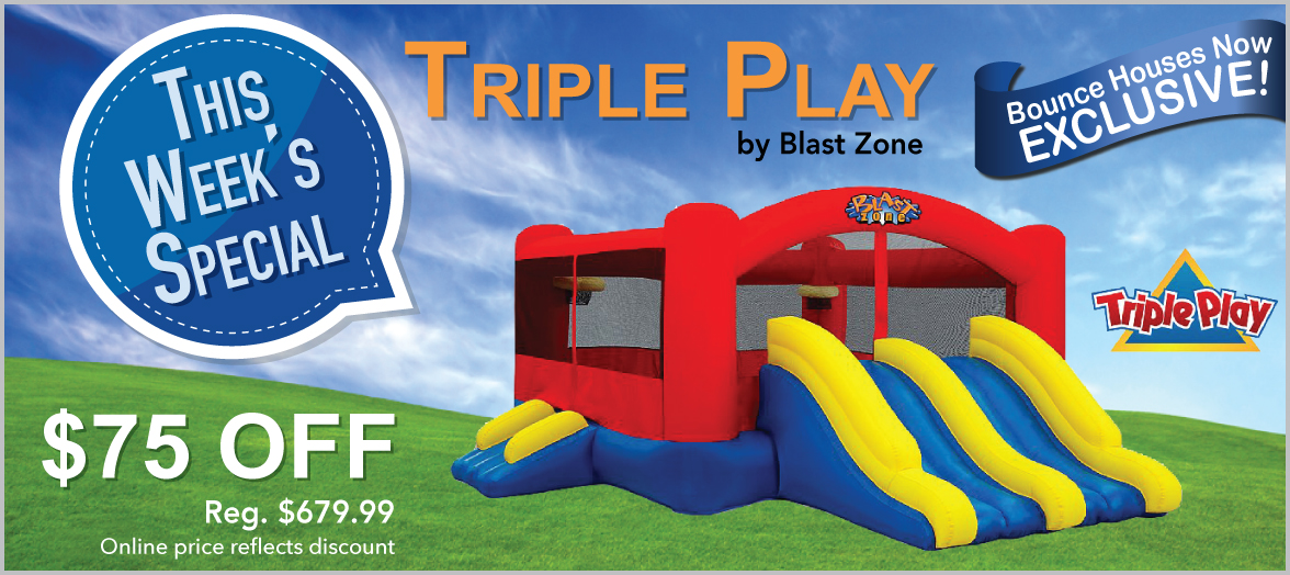 Blast Zone Triple Play Moonwalk Double Slide Combo