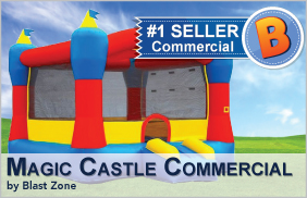 Magic Castle Commercial Bounce House by Blast Zone