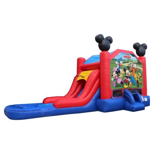 EZ Mickey Bouncer Slide Combo Wet or Dry