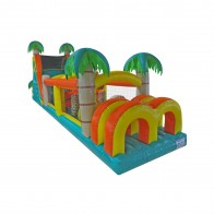 60 Inflatable Tropical Obstacle Course