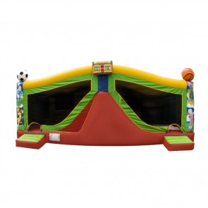 Large Sports Bouncer Slide Combo