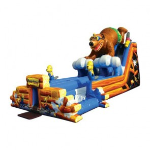Bear Camp Double Lane Water Slide w/Pools