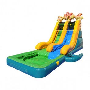 Volcano N' Fire Slide with Detachable Pool