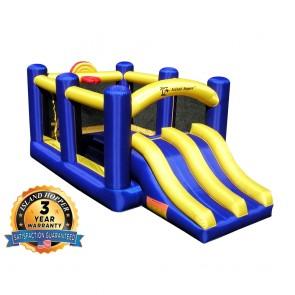 Racing Slide and Slam Bounce House
