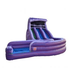 Aqua Purple Wet and Dry Slide