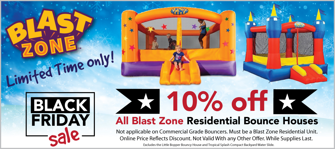 Black Friday Sale - 10% Off Blast Zone Residential Inflatables