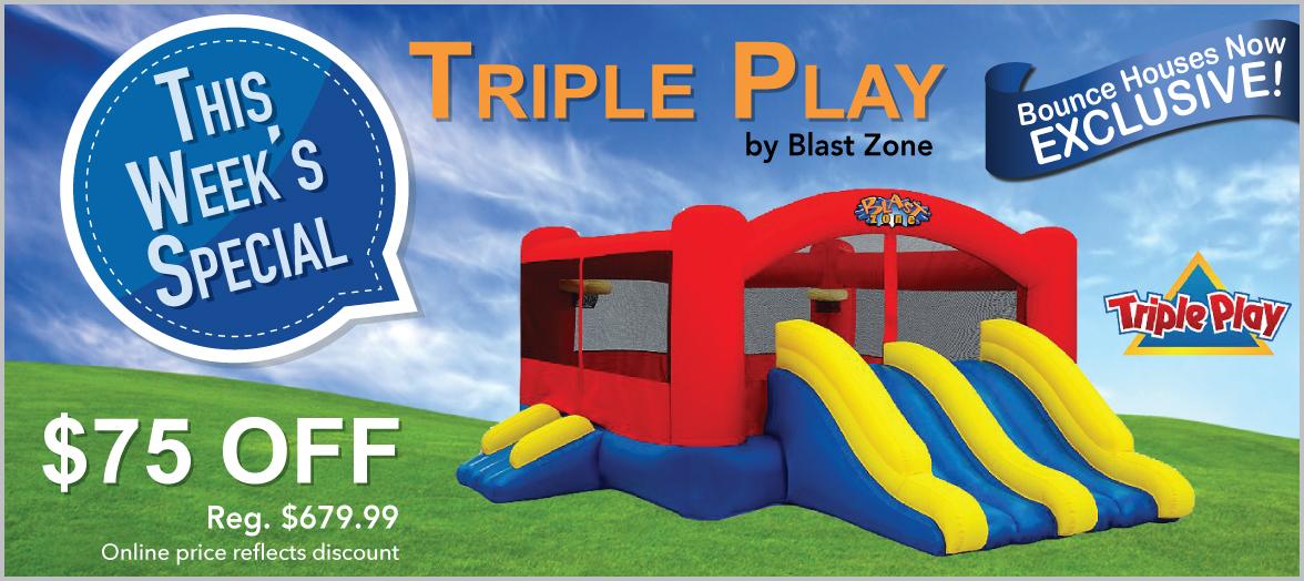 Triple Play Moonwalk Double Slide Combo