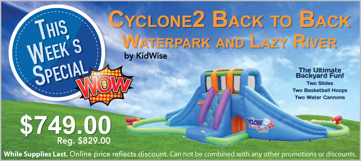 Cyclone2 Back to Back Waterpark and Lazy River
