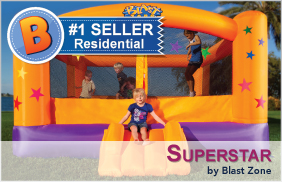 Superstar Inflatable Party Moonwalk by Blast Zone