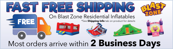 Fast Free Shipping on Blast Zone Residential inflatables