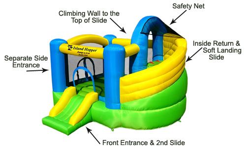 island hopper bounce house specializes in home bounce houses the bounce houses designed by island hopper are not me to inflatables